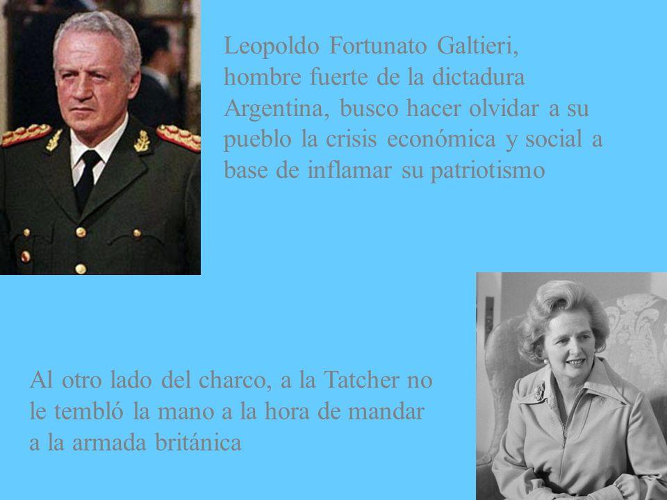 Leopoldo Fortunato Galtieri, hombre fuerte de la dictadura Argentina, busco hacer olvidar a su pueblo la crisis económica y social a base de inflamar su patriotismo