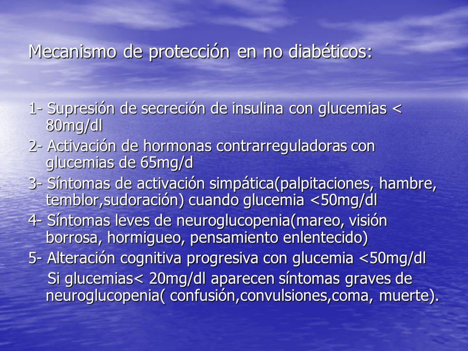 Mecanismo de protección en no diabéticos:
