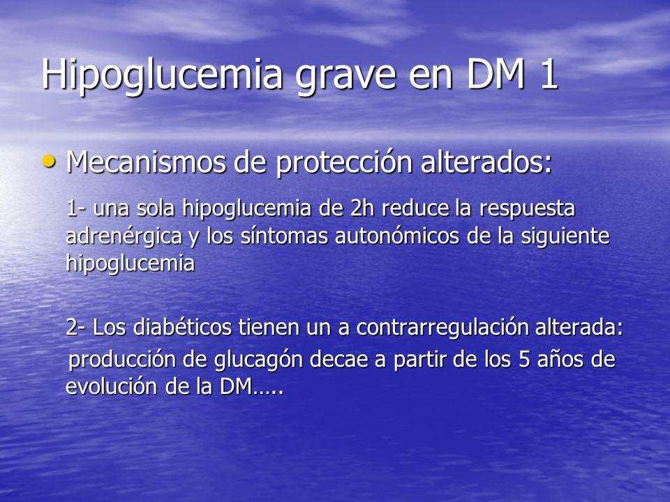 Hipoglucemia grave en DM 1