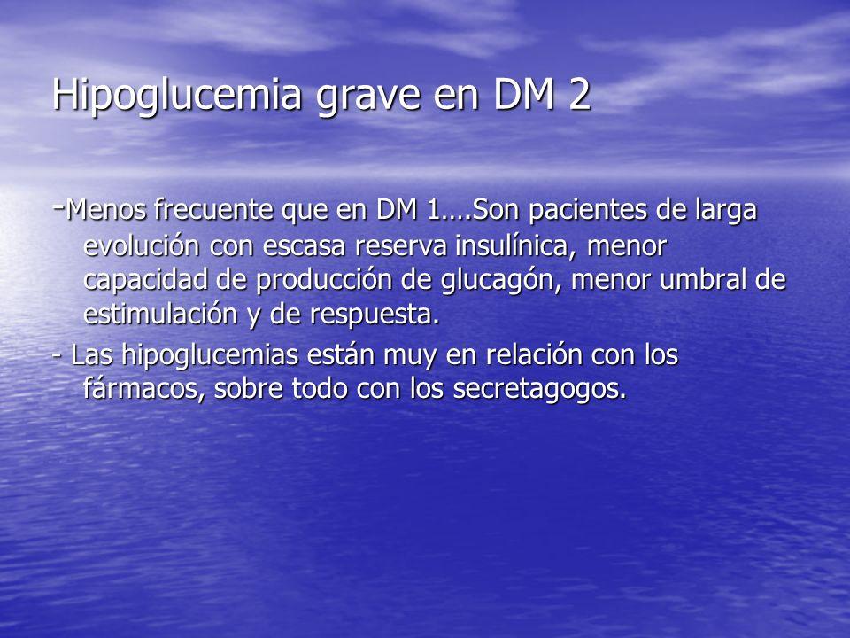 Hipoglucemia grave en DM 2