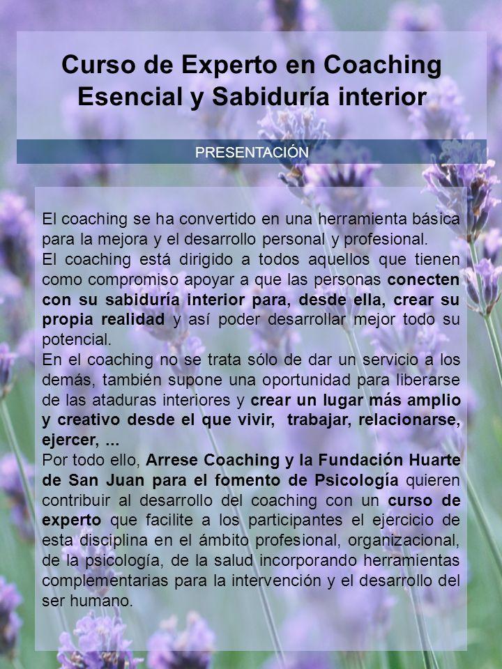 PRESENTACIÓN El coaching se ha convertido en una herramienta básica para la mejora y el desarrollo personal y profesional.