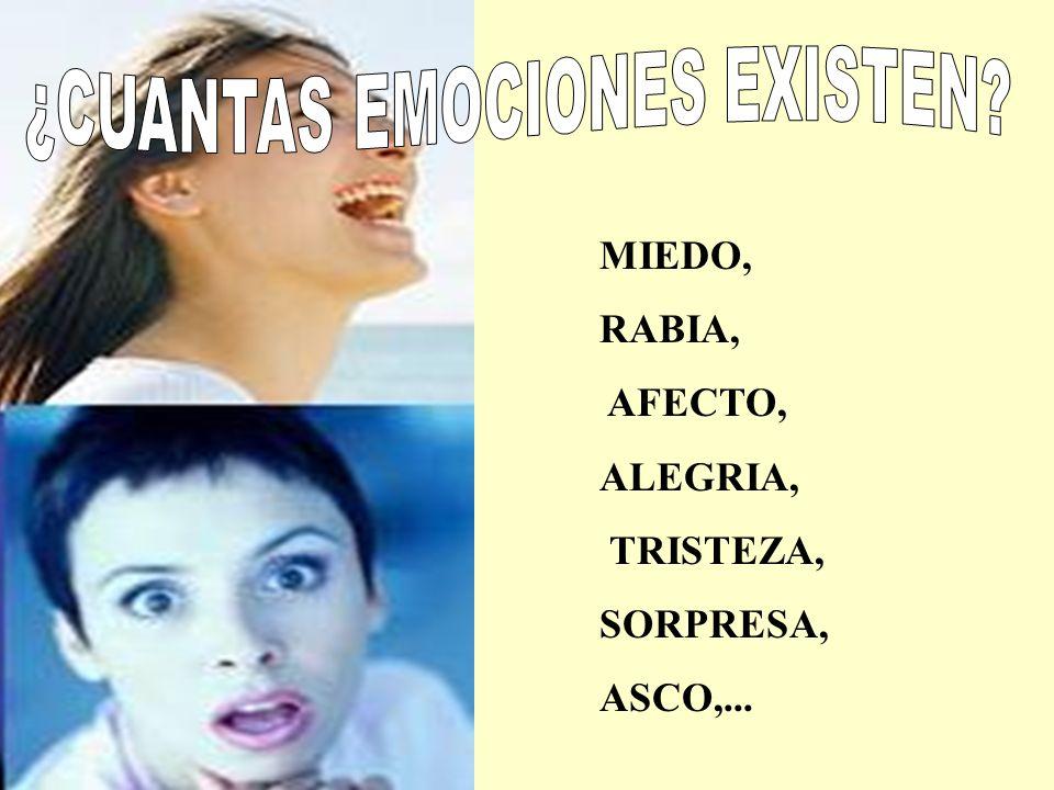 ¿CUANTAS EMOCIONES EXISTEN