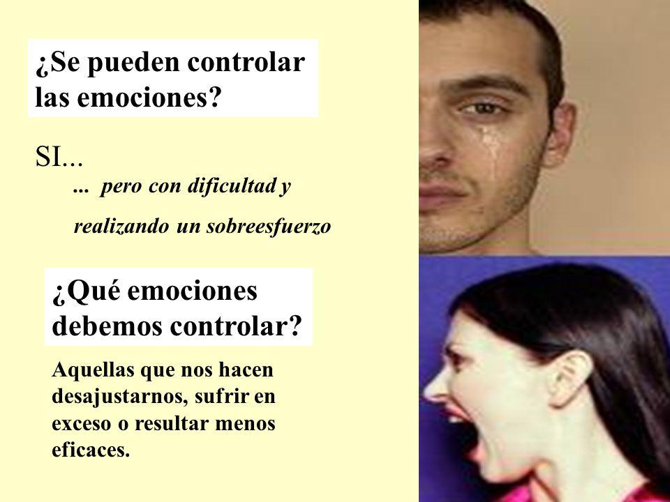 ¿Se pueden controlar las emociones