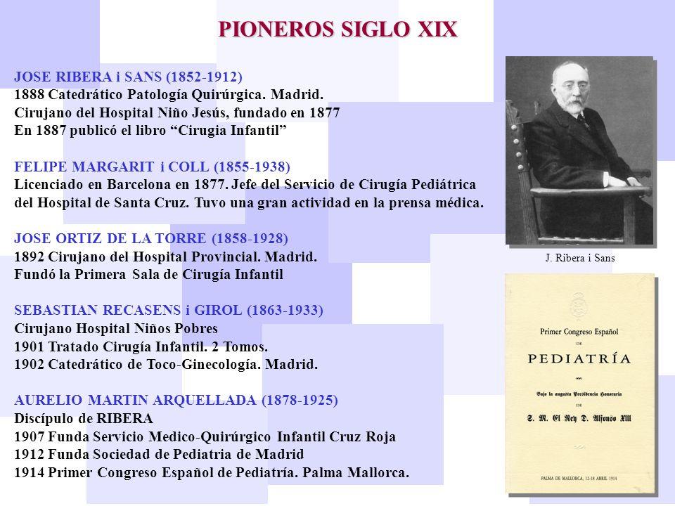 PIONEROS SIGLO XIX JOSE RIBERA i SANS (1852-1912)