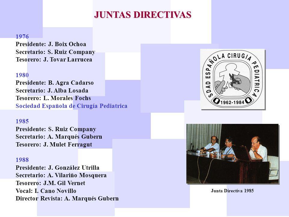 JUNTAS DIRECTIVAS 1976 Presidente: J. Boix Ochoa