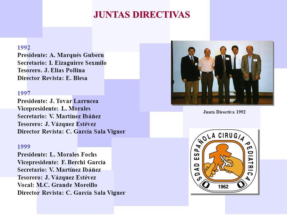 JUNTAS DIRECTIVAS 1992 Presidente: A. Marqués Gubern