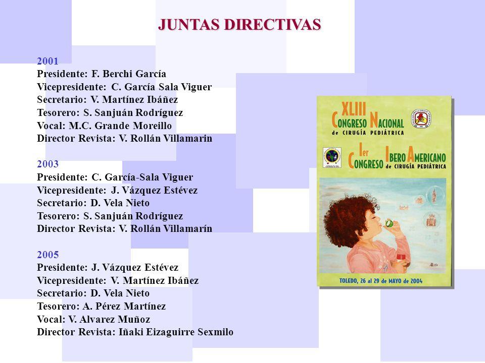 JUNTAS DIRECTIVAS 2001 Presidente: F. Berchi García