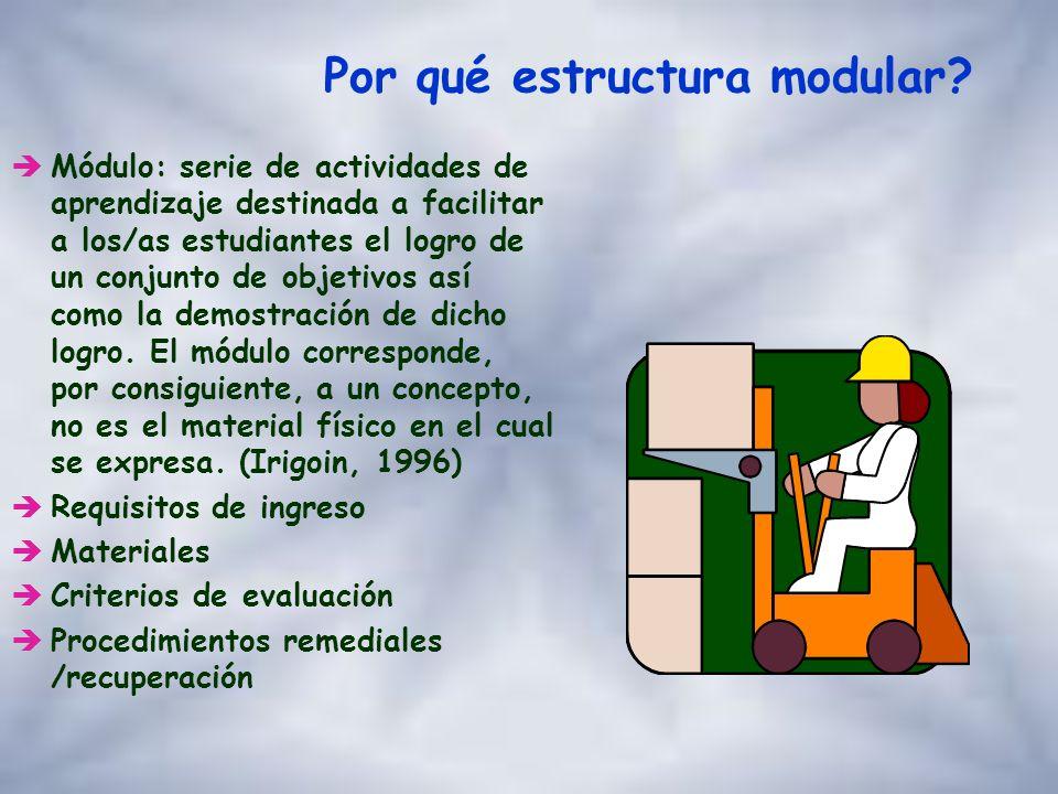 Por qué estructura modular