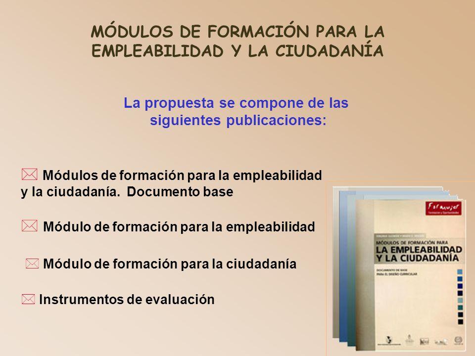 MÓDULOS DE FORMACIÓN PARA LA EMPLEABILIDAD Y LA CIUDADANÍA
