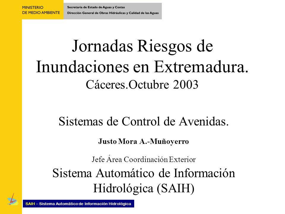 Jornadas Riesgos de Inundaciones en Extremadura. Cáceres.Octubre 2003