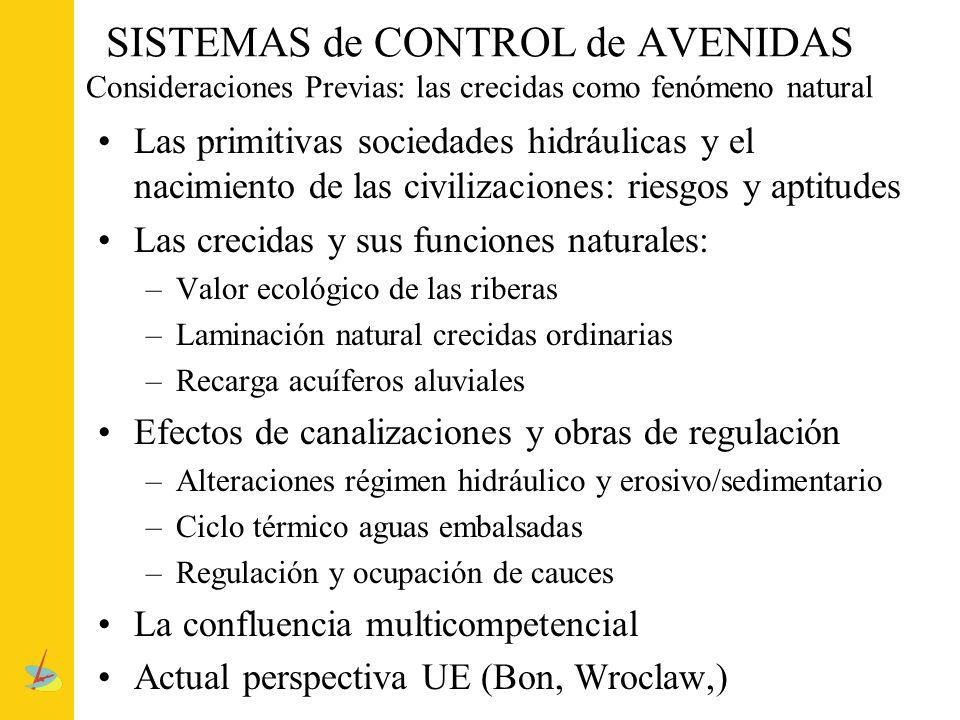 SISTEMAS de CONTROL de AVENIDAS Consideraciones Previas: las crecidas como fenómeno natural