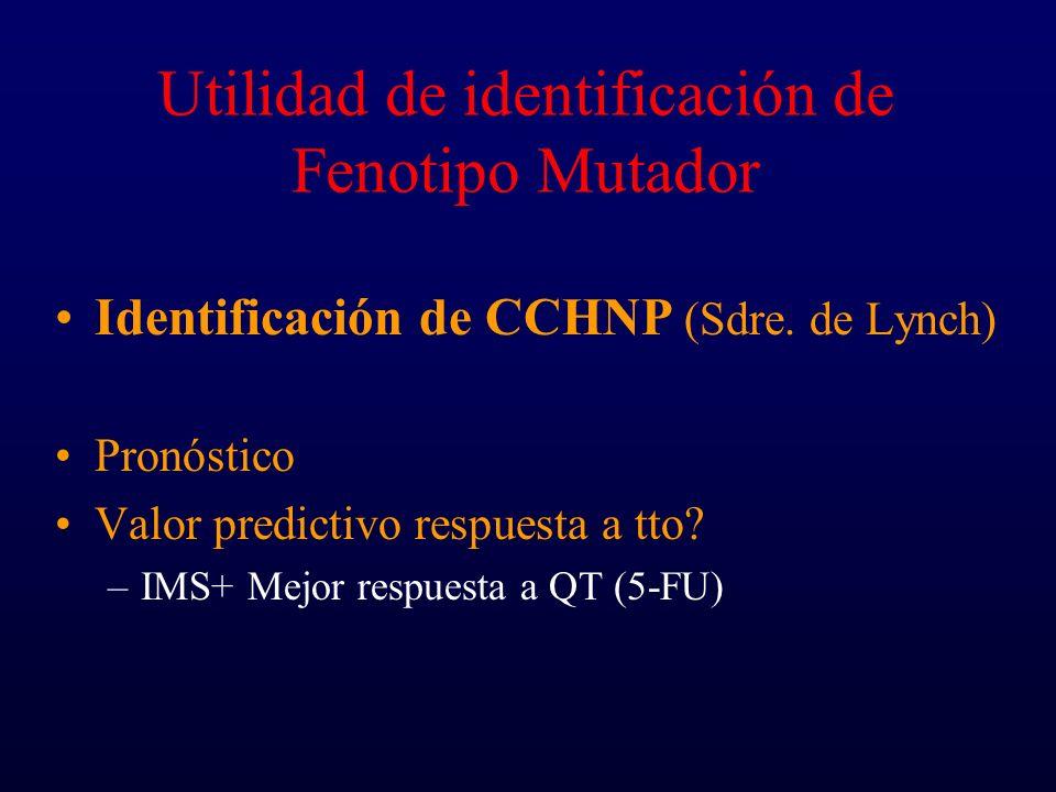 Utilidad de identificación de Fenotipo Mutador