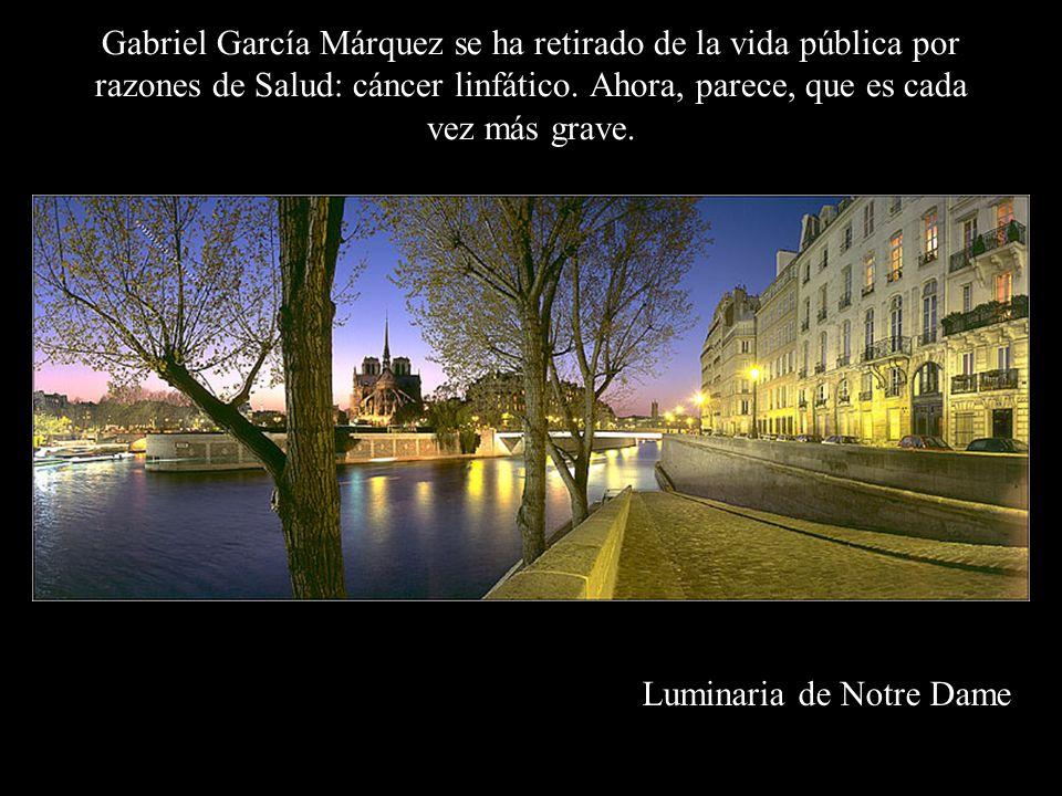 Gabriel García Márquez se ha retirado de la vida pública por razones de Salud: cáncer linfático. Ahora, parece, que es cada vez más grave.