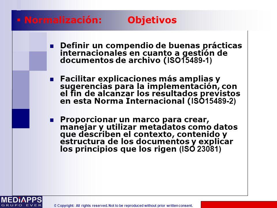Normalización: Objetivos