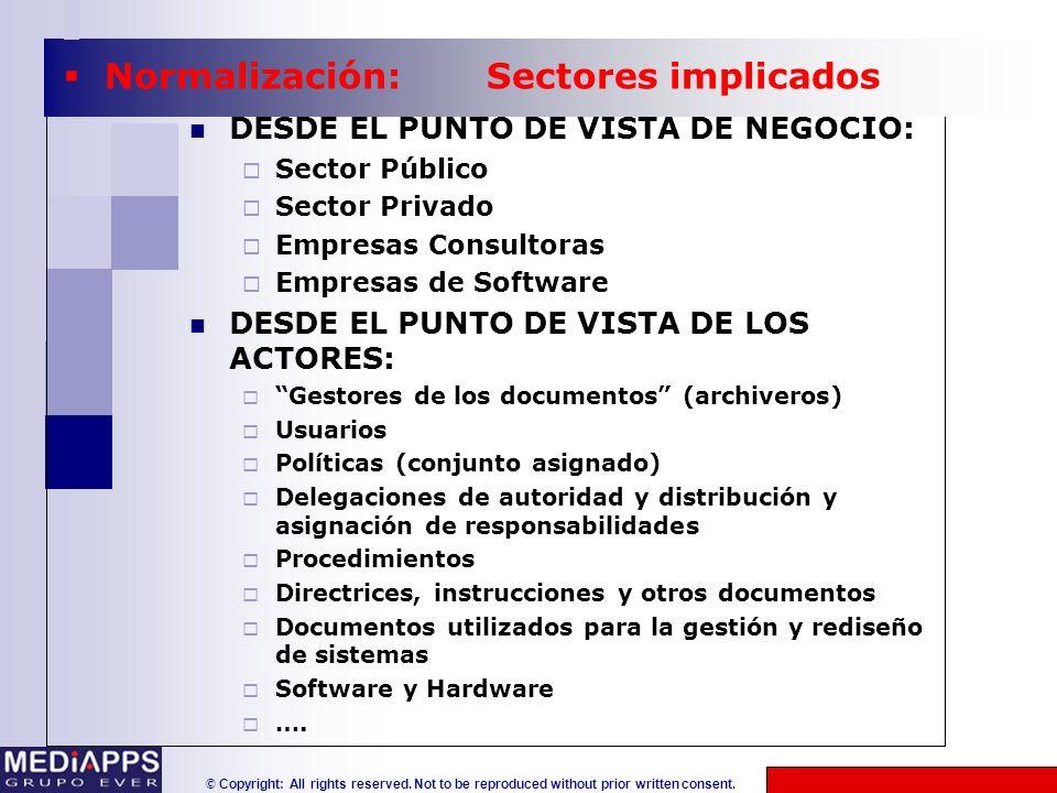 Normalización: Sectores implicados