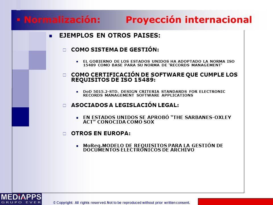 Normalización: Proyección internacional