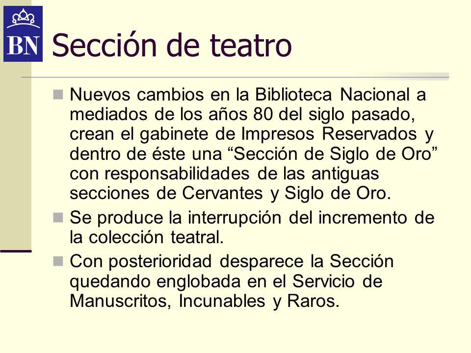 Sección de teatro