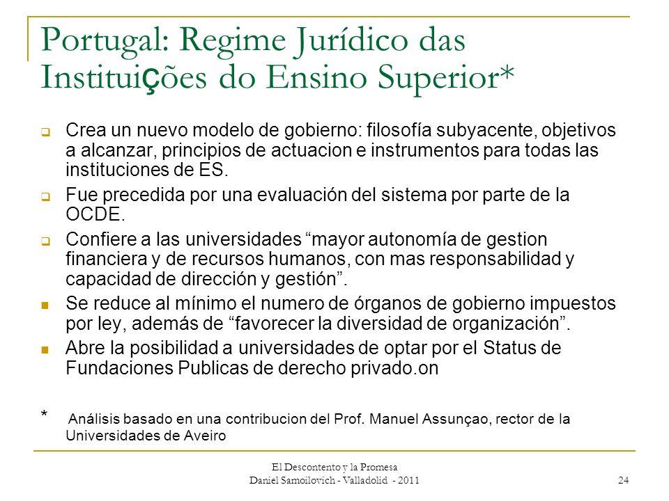 Portugal: Regime Jurídico das Instituições do Ensino Superior*