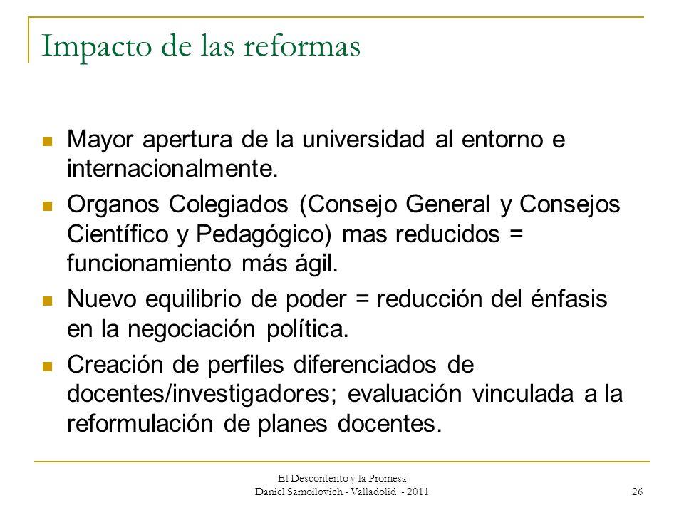 Impacto de las reformas