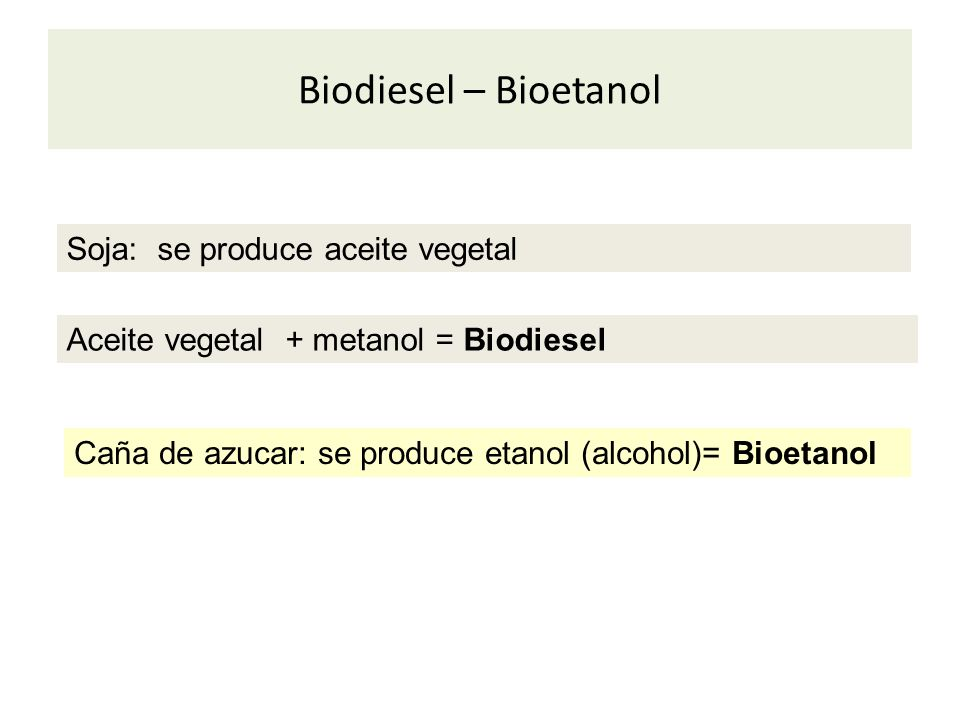 Biodiesel – Bioetanol Soja: se produce aceite vegetal