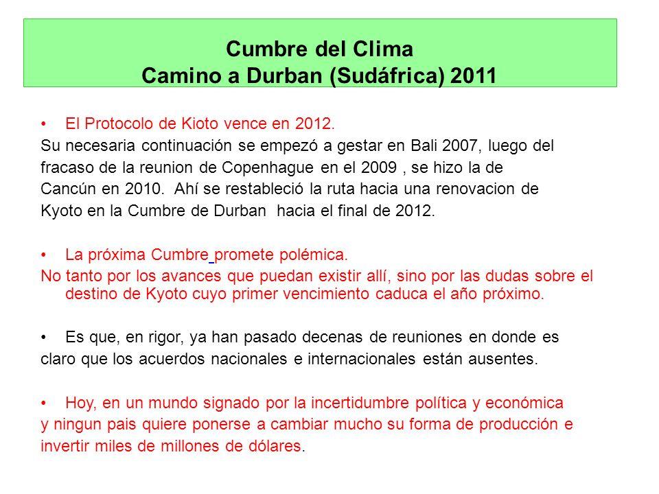 Cumbre del Clima Camino a Durban (Sudáfrica) 2011