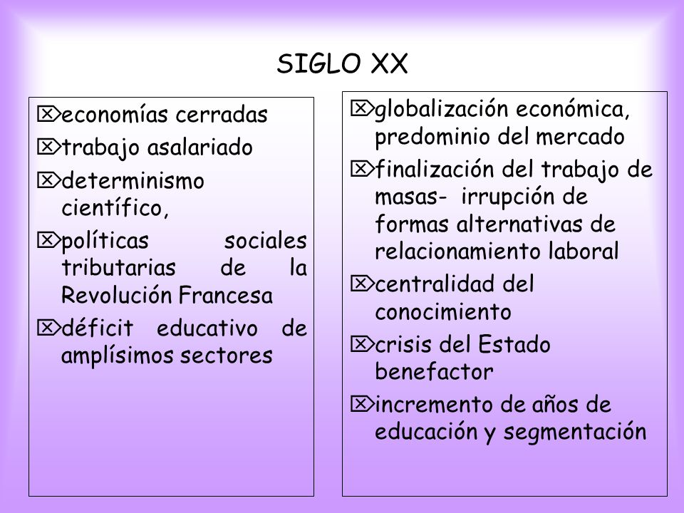 SIGLO XX globalización económica, predominio del mercado