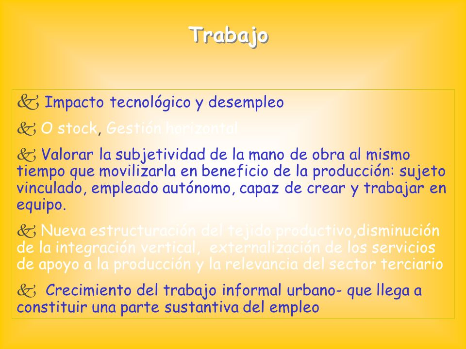 Impacto tecnológico y desempleo