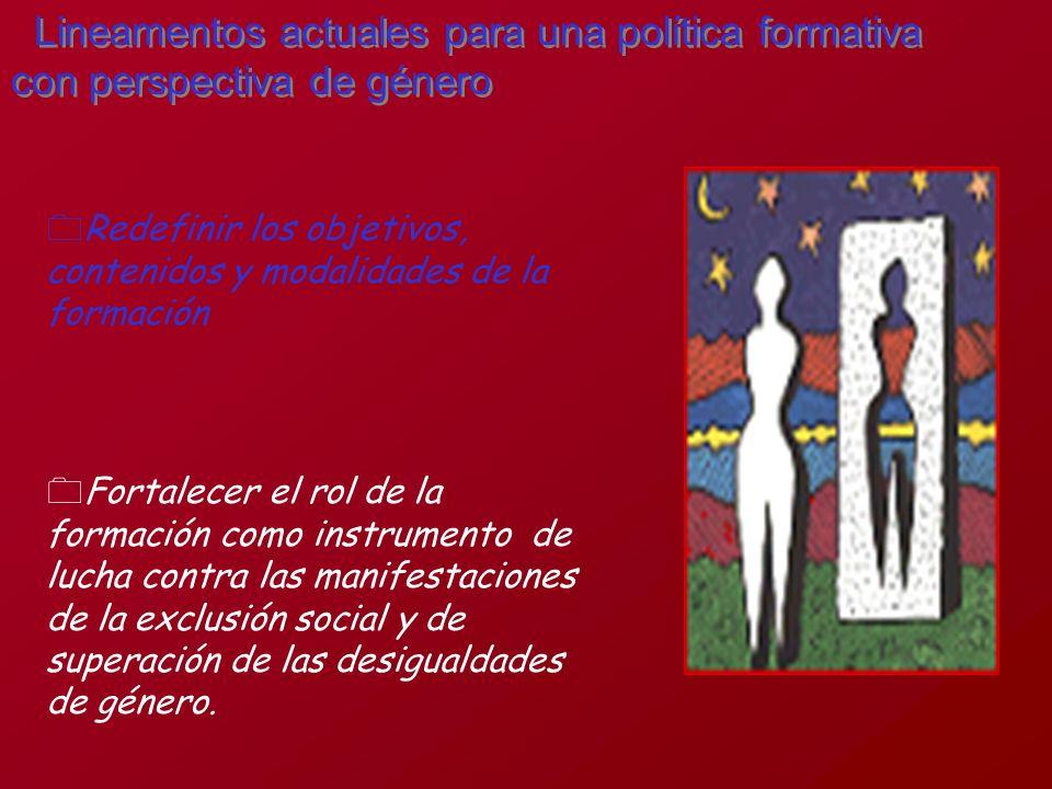 Lineamentos actuales para una política formativa con perspectiva de género