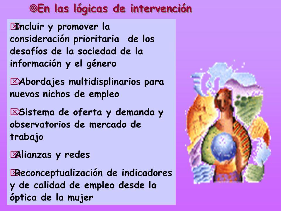En las lógicas de intervención