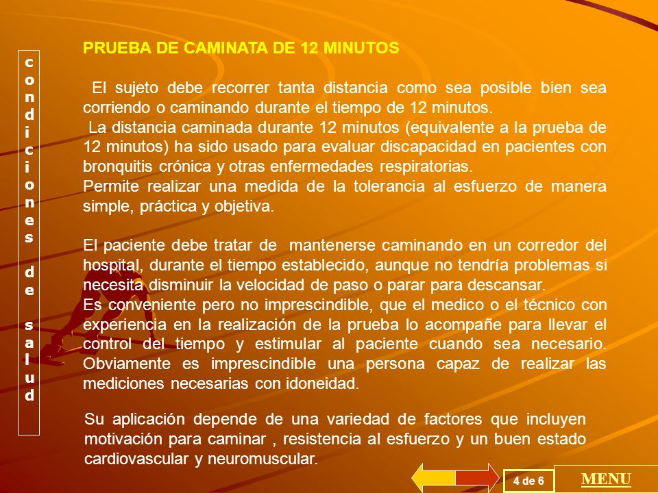 PRUEBA DE CAMINATA DE 12 MINUTOS