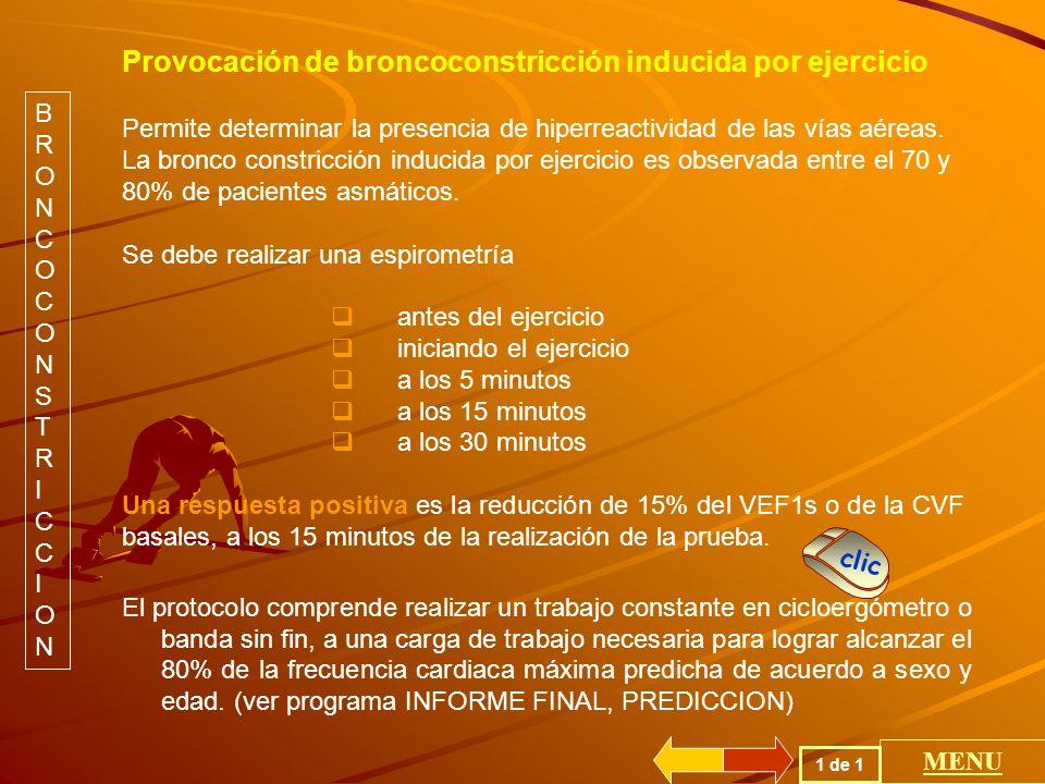 Provocación de broncoconstricción inducida por ejercicio