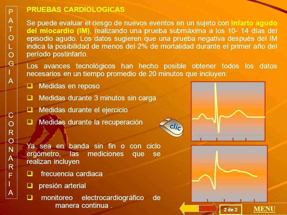 PRUEBAS CARDIOLOGICAS PATOLOGIA