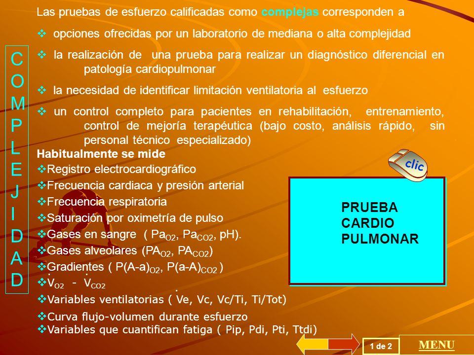 COMPLEJIDAD PRUEBA CARDIO PULMONAR