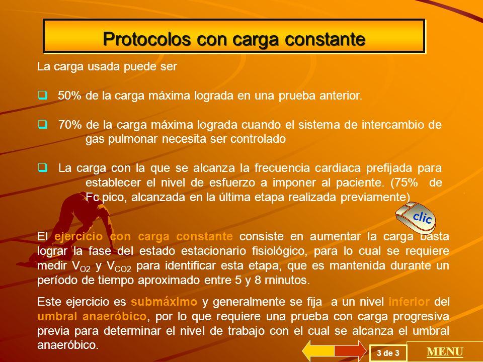 Protocolos con carga constante