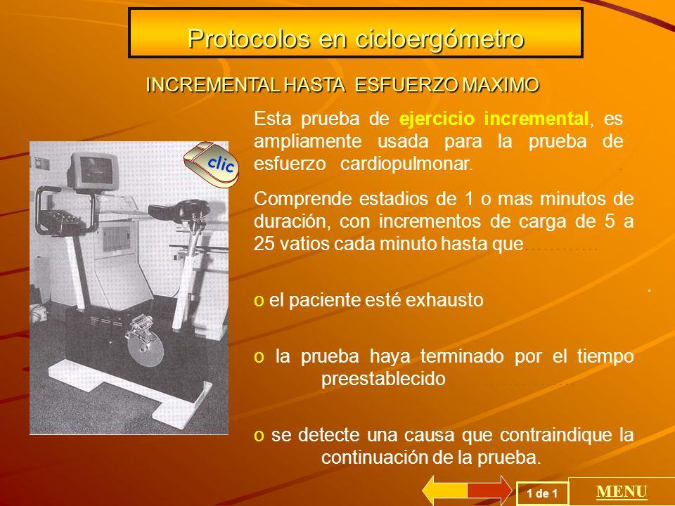 Protocolos en cicloergómetro