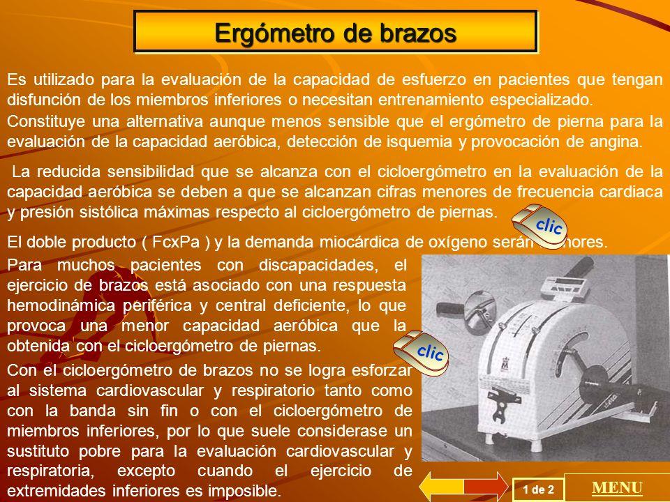 Ergómetro de brazos