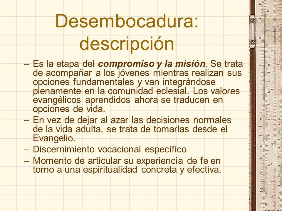 Desembocadura: descripción