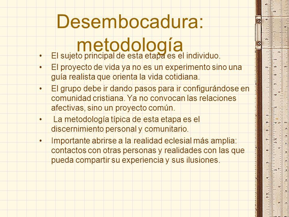 Desembocadura: metodología