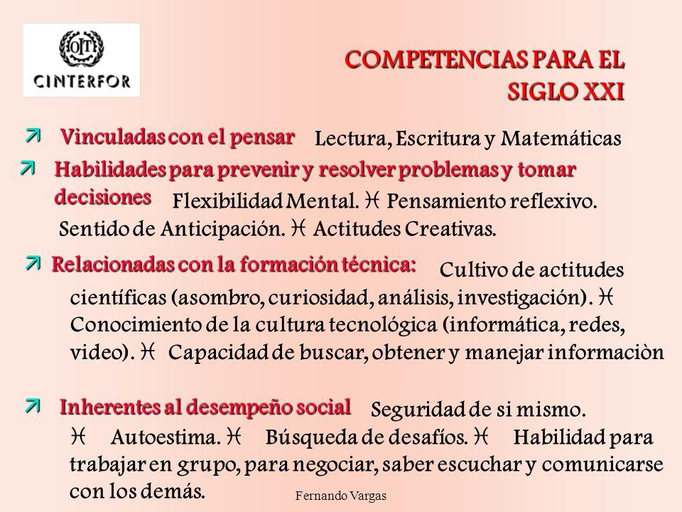 COMPETENCIAS PARA EL SIGLO XXI