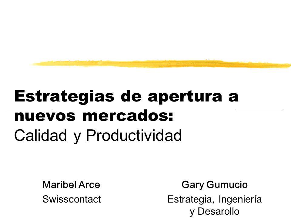 Estrategias de apertura a nuevos mercados: Calidad y Productividad