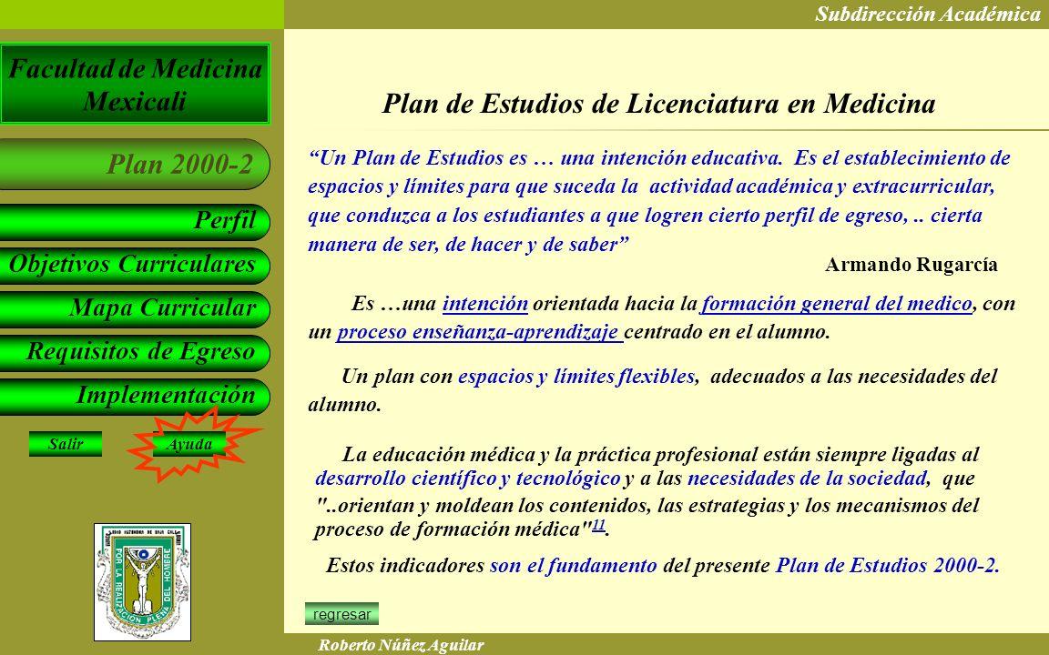 Plan de Estudios de Licenciatura en Medicina