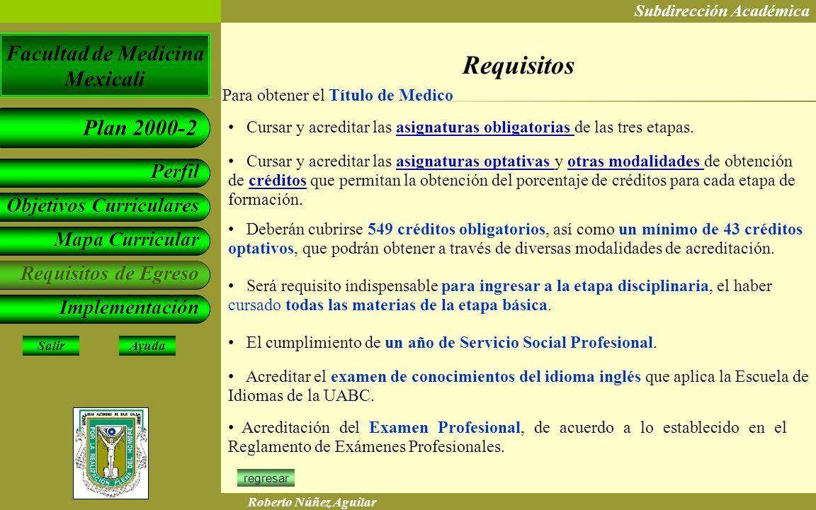 Requisitos Para obtener el Título de Medico