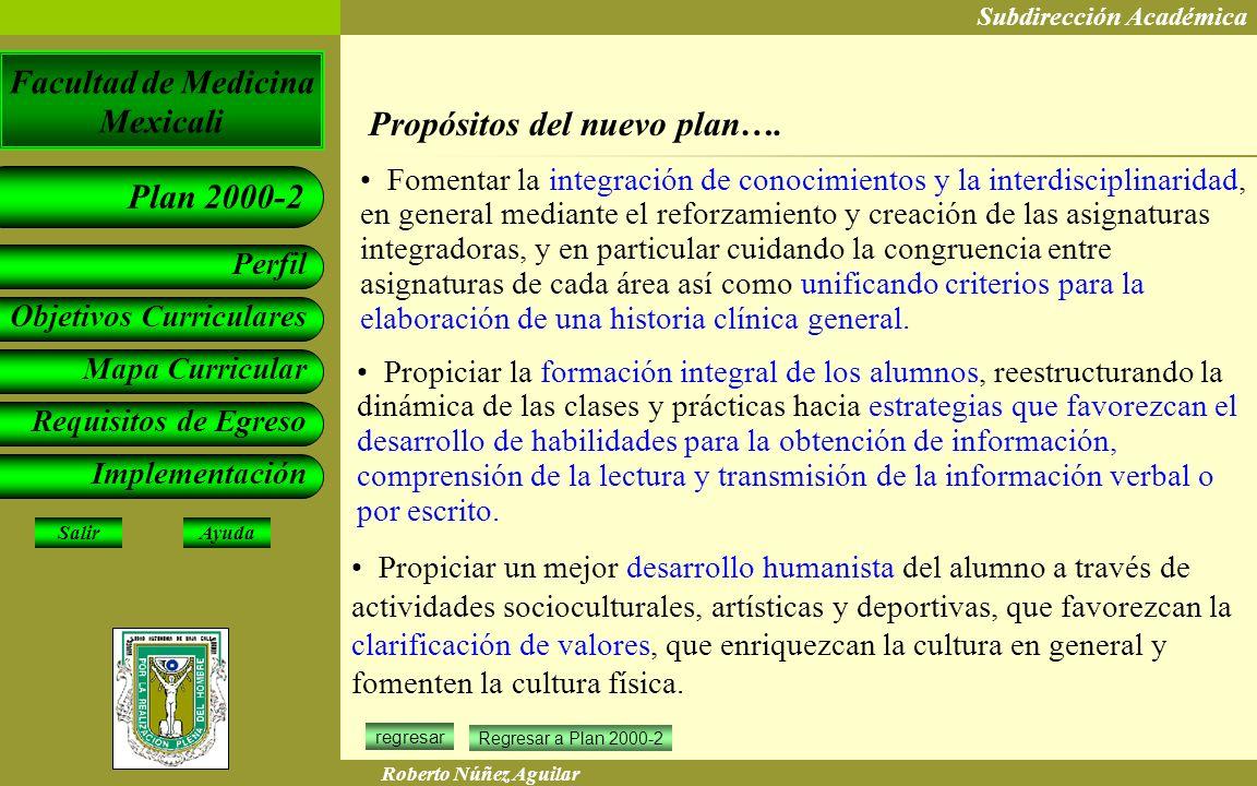 Propósitos del nuevo plan….