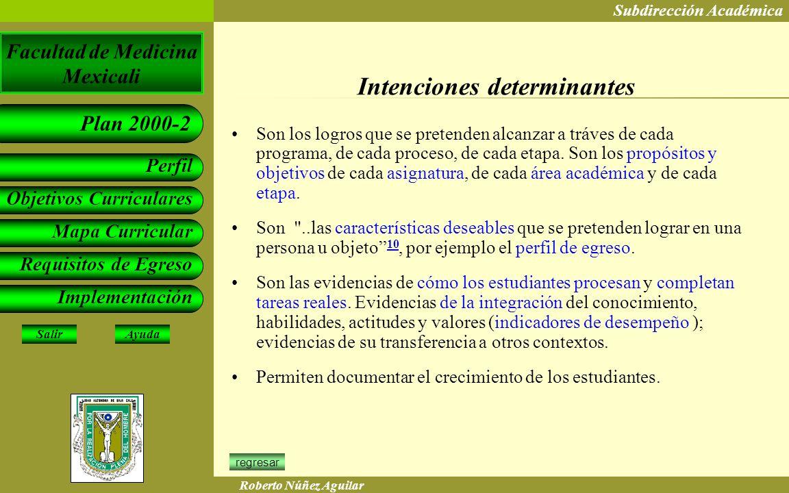 Intenciones determinantes