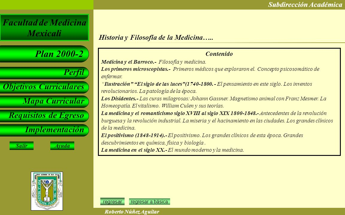 Historia y Filosofía de la Medicina…..