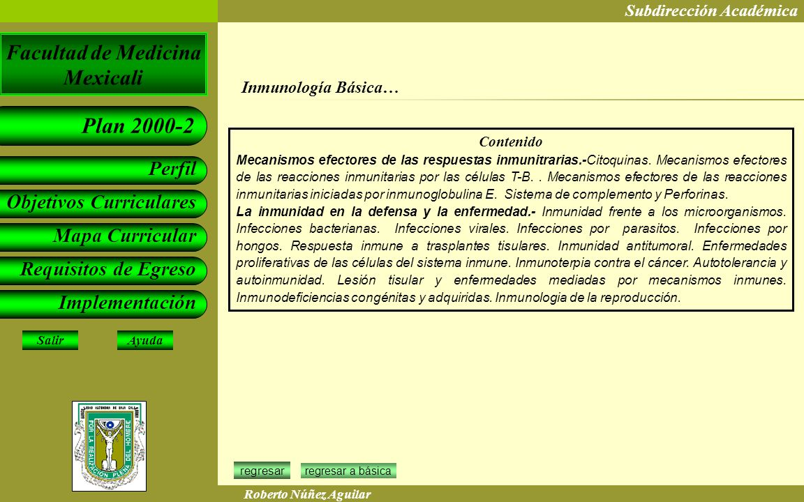 Inmunología Básica… Contenido