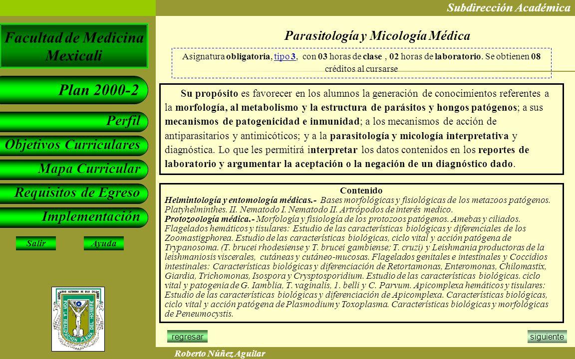 Parasitología y Micología Médica