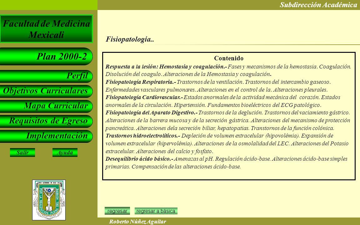Fisiopatología.. Contenido