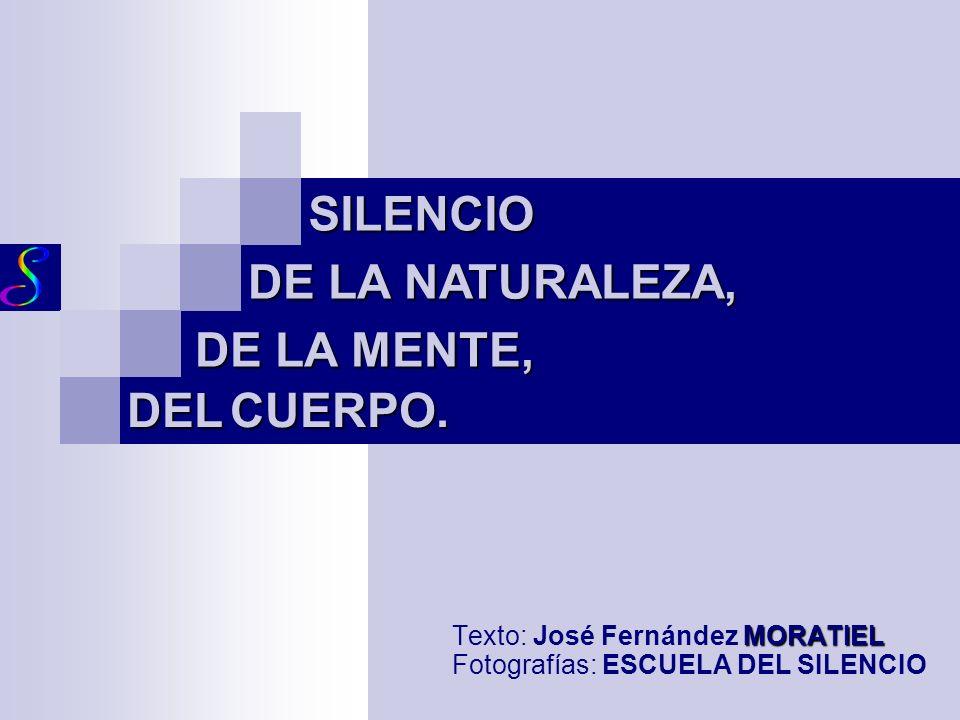 Texto: José Fernández MORATIEL Fotografías: ESCUELA DEL SILENCIO