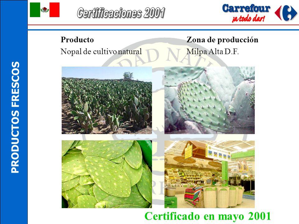 Certificaciones 2001 Certificado en mayo 2001